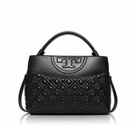 Tory Burch Black Fleming Mini Satchel