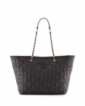 Black Marion Small Quilted Tote Bag