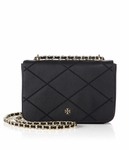 Tory Burch Black Robinson Stitched Adjustable Shoulder Bag - 5.4