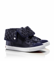 Tory Burch Blue Caspe High Top Sneaker