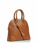 Brown Robinson Perforated Small Dome Satchel