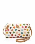 Tory Burch Kerrington Multi Dot White Crossbody - 7.3