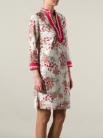 Tory Burch Pink Floral Print Tunic Dress