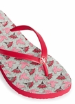 Tory Burch Red 'Thin' Dove Print Flip Flops