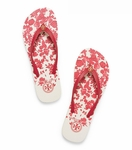 Tory Burch Red Thin Printed Flip-Flop