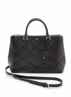Tory Burch Robinson Stitched Mini Double-Zip Tote