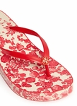 TORY BURCH THANDIE BLOSSOM PRINT WEDGE FLIP-FLOPS - 5.30