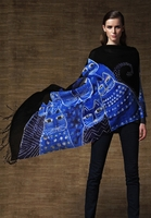 Cat Wave Printed Shawl - Exclusive