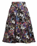 Multicolor Butterfly Brocade Skirt
