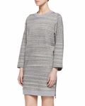 Vince Gray Melange Ribbed Knit Dress - 8.26