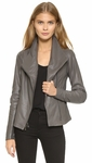 Vince Gray Scuba Leather Jacket - 9.18