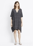 Vince Interlace Print Silk V-Neck Poncho Dress - 2.22