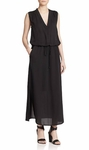 Vince Silk Drawstring Maxi Dress - 5.1