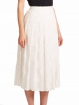 White Calista Dot Pleated Skirt - 4.24