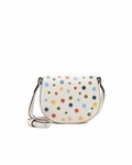 White Confetti Mini Saddle Bag - 4.28