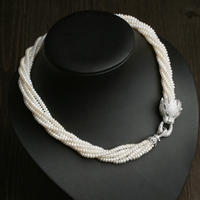 White Crystal Pearl Necklace