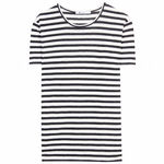 White Linen Stripe Tee - 4.10