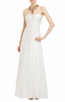 White Magnolia Strapless Gown