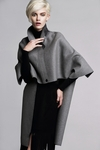 Wool Asymmetrical Cape Coat - 11.7