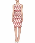 Wynn Whimsical Embroidered Fitted Dress