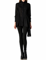 Zona Brera 100 % Cotton Asymmetrical Hem Shirt