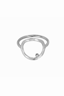 Adina Reyter Circle Sterling Silver Ring with Diamond