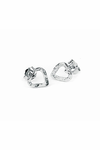 Adina Reyter Heart Sterling Silver Post Earrings