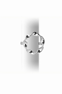Adina Reyter Twist Sterling Silver Circle Ring