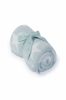 Barefoot Dreams Aqua Ice CozyChic Dream Receiving Blanket