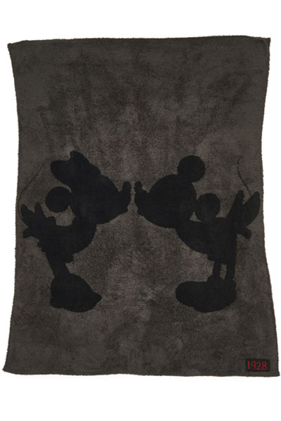 Barefoot Dreams CozyChic Classic Disney Mickey & Minnie Mouse Carbon/Black Throw