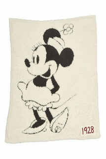 Barefoot Dreams CozyChic Classic Disney Minnie Mouse Baby Blanket