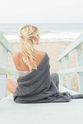 Barefoot Dreams CozyChic Graphite Throw