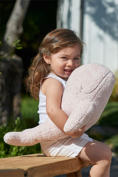 Barefoot Dreams Whale CozyChic Dusty Rose Buddie