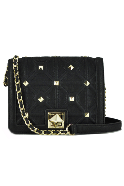 Big Buddha Benson Black Crossbody Bag