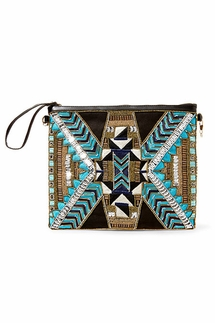 Big Buddha Kayleigh Turquoise Wristlet and Crossbody Bag