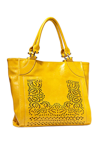 Big Buddha Violet Yellow Handbag
