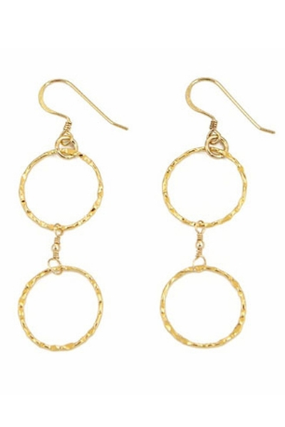 Charlene K 2-Circles Drop Earrings
