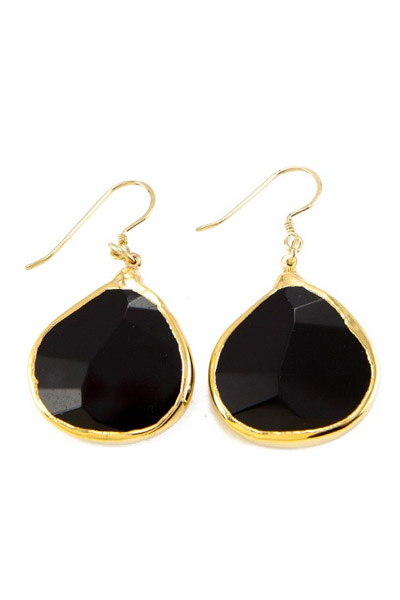 Charlene K Black Onyx Gemstone Earrings