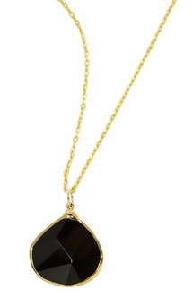 Charlene K Black Onyx Gemstone Pendant Necklace