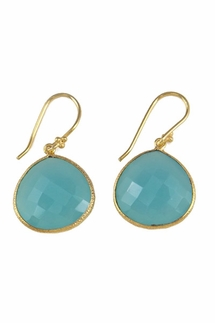 Charlene K Blue Chalcedony Gemstone Earrings