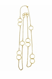 Charlene K Gold Multi Circle Necklace