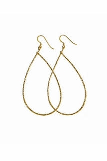 Charlene K Gold Teardrop Earrings