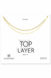 Dogeared 2 Chain Gold Choker