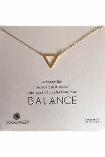 Dogeared Balance Large Open Triangle Gold Necklace