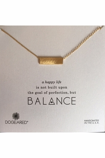 Dogeared Balance Wide Bar Gold Necklace