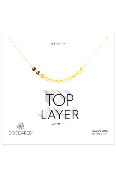 Dogeared Centered Multi-Disc Gold Choker