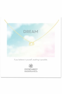 Dogeared DREAM Dreamy Cloud Gold Necklace