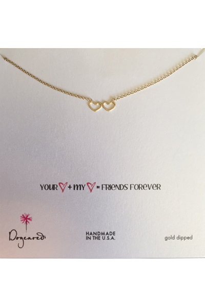 Dogeared Friends Forever Gold Necklace