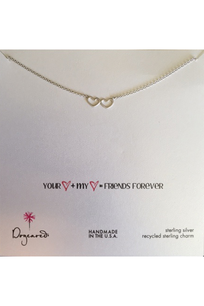 Dogeared Friends Forever Silver Necklace