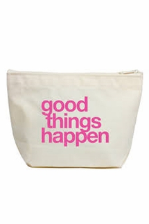 Dogeared Good Things Happen Lil' Zip Bag
